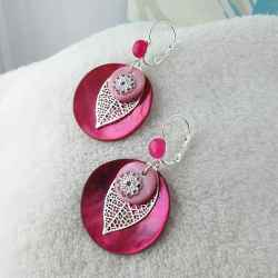 Boucle d'oreille One Rose