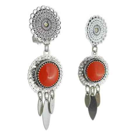 Boucle d'oreille clip Arizona orange