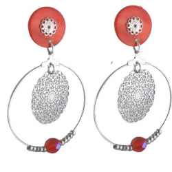boucles d'oreilles clips arabesques Orange