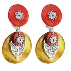 boucle d'oreille clip One Orange