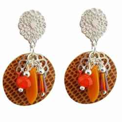Boucles d'oreilles à clips Heaven Orange