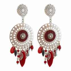 Boucles d'oreilles a clips Catch Dreamer rouges